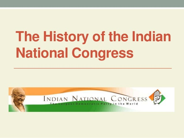 indian national congress history pdf