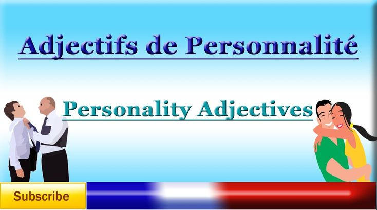 personality adjectives french list pdf