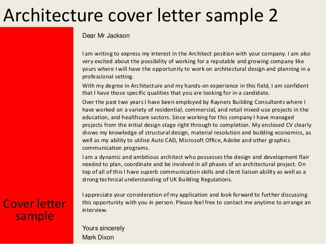cover letter for architecture internship pdf