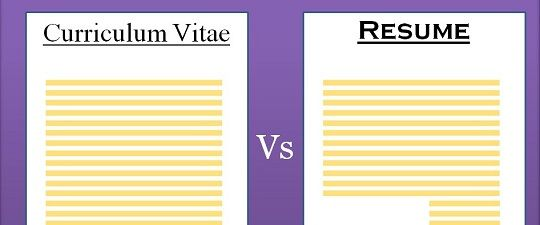 what is the difference between cv and resume pdf