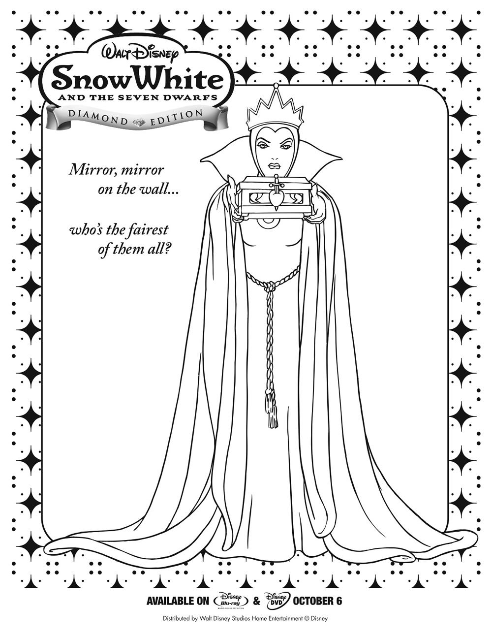 snow white coloring pages pdf