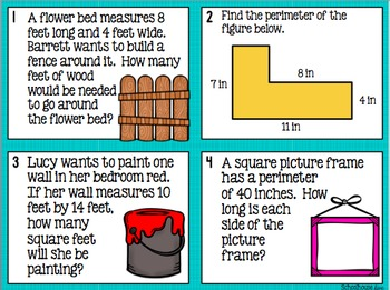 area and perimeter quiz pdf