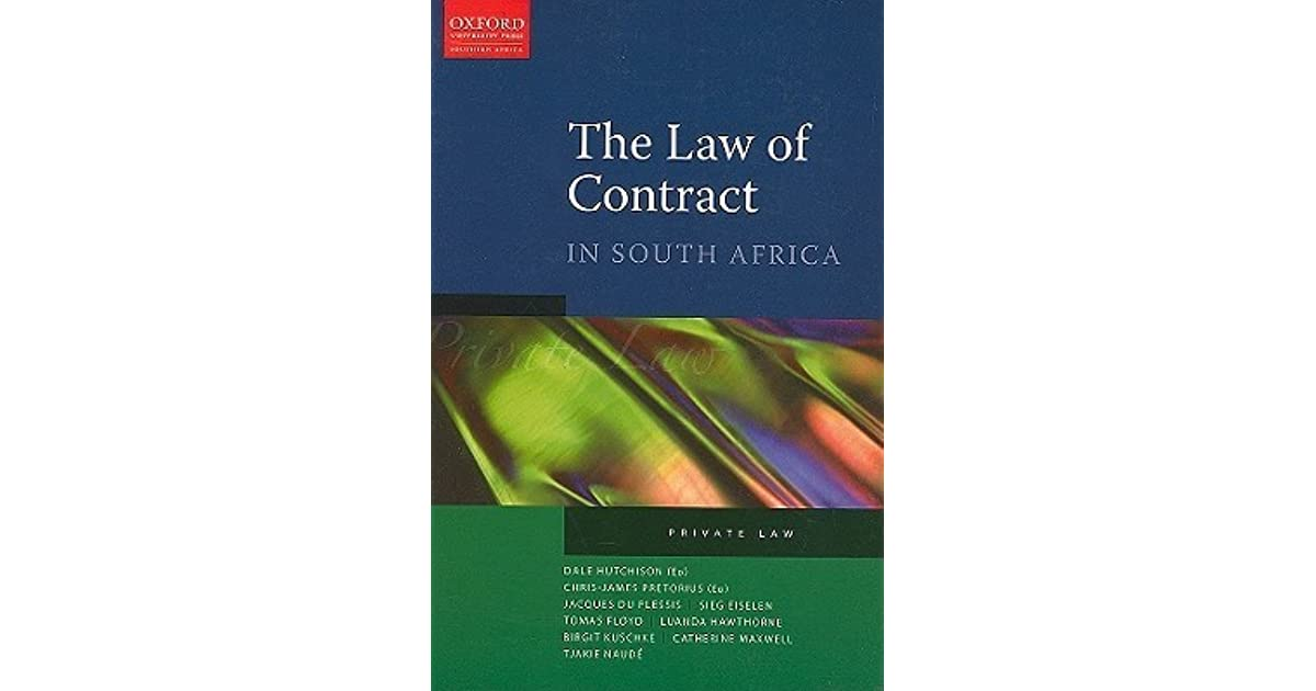 the law of contract in south africa hutchison pdf