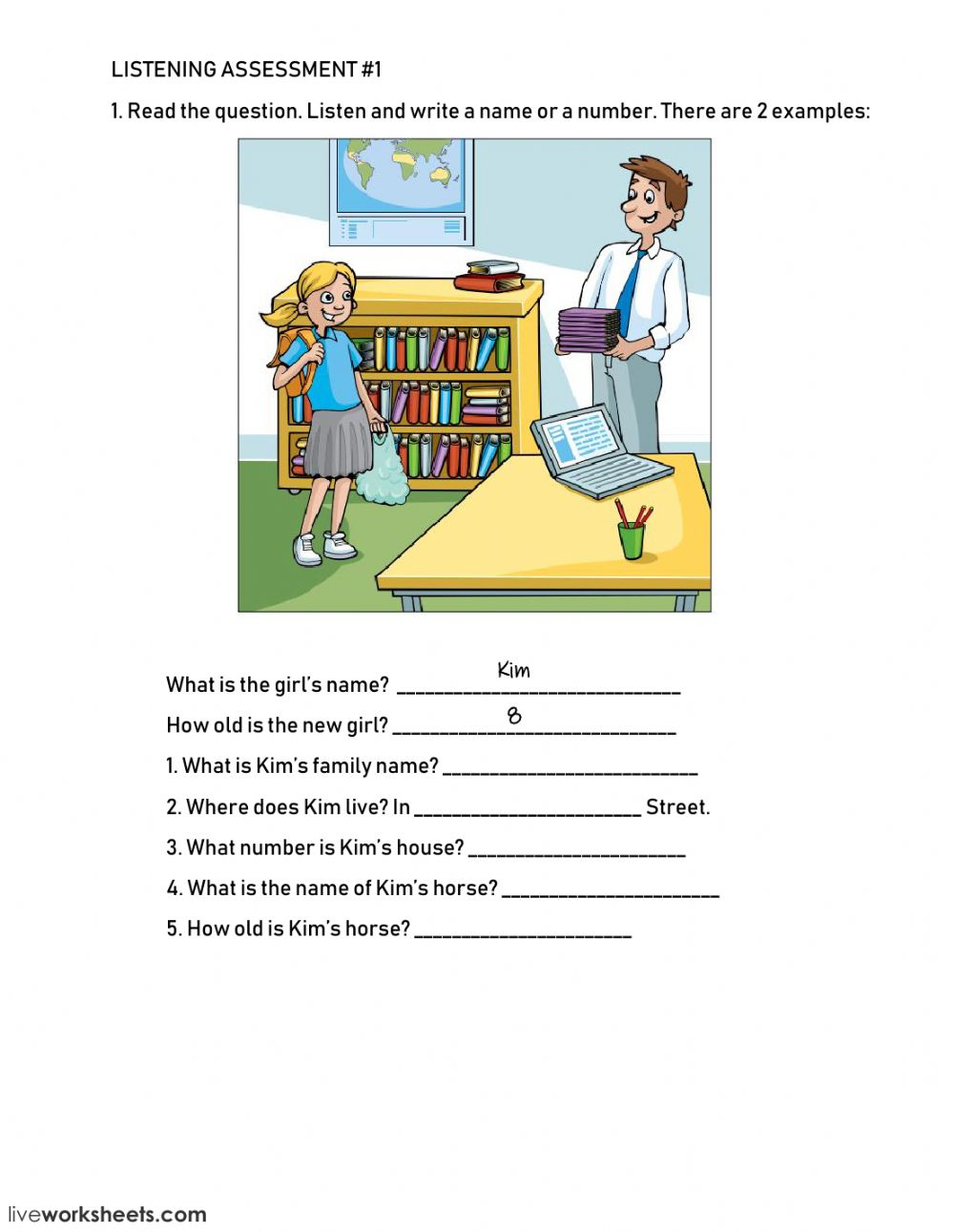 basic english test with answers pdf