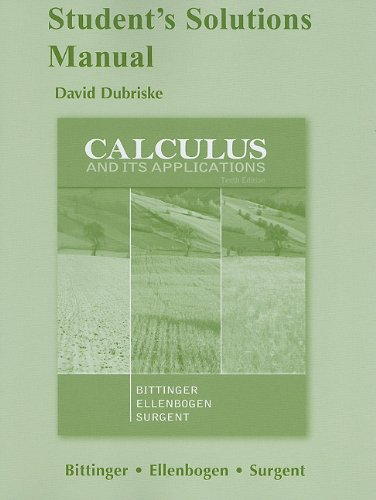 calculus and its applications 10th edition solutions manual pdf