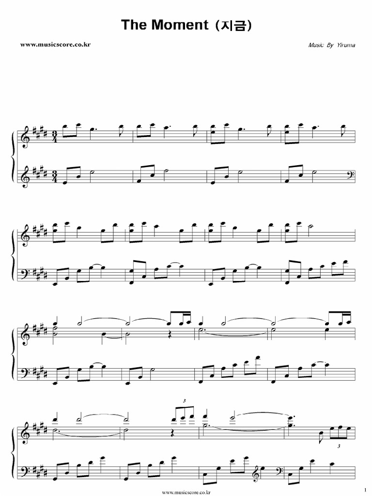 yiruma piano sheet music book pdf