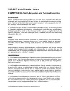 saskatchewan education training employment policy pdf