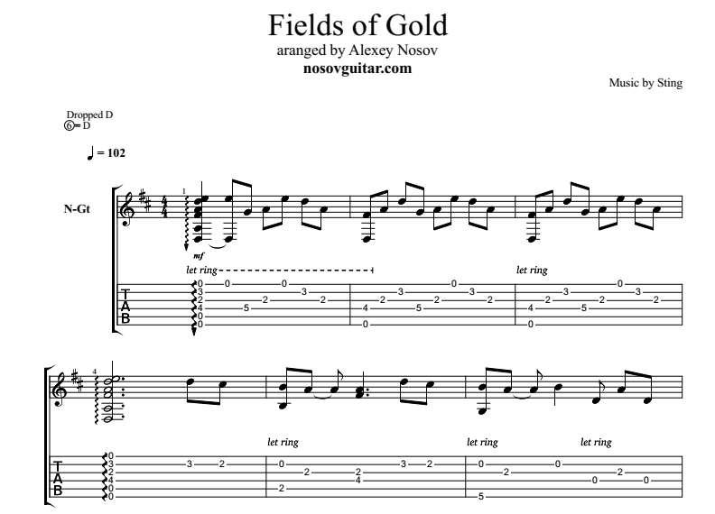 fields of gold chords pdf