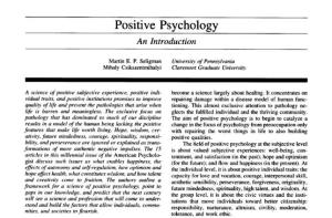 introduction to positive psychology compton pdf