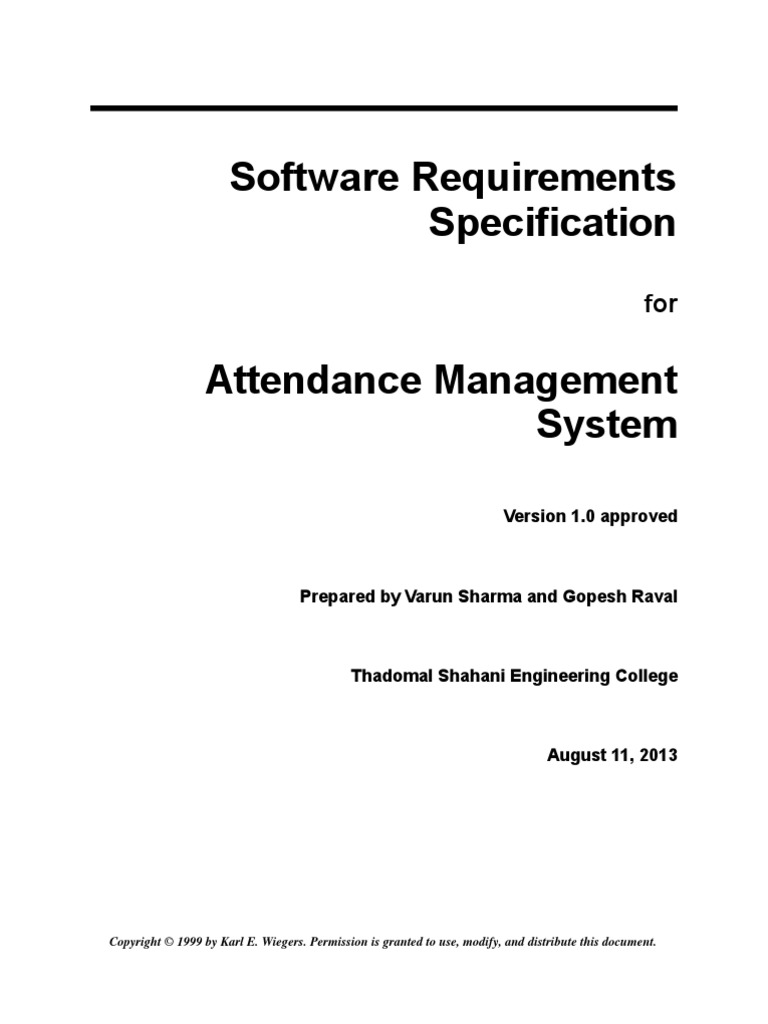 srs for project management system pdf